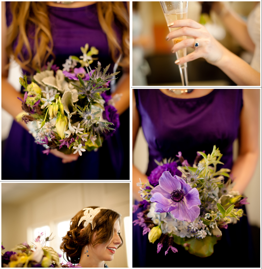 Austin Wedding Photographers photo bridesmaids dress purple flowers