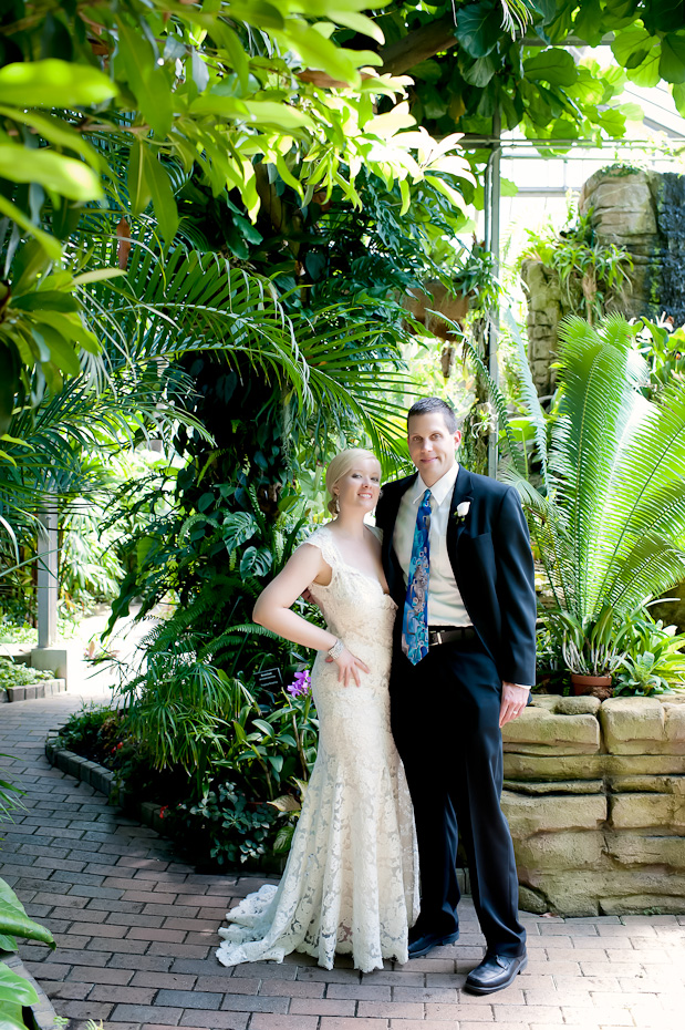 Bridal Portrait at Garfield Park Conservatory Indianapolis