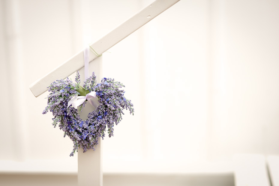 heart shape ornament wedding reception decoration lavender