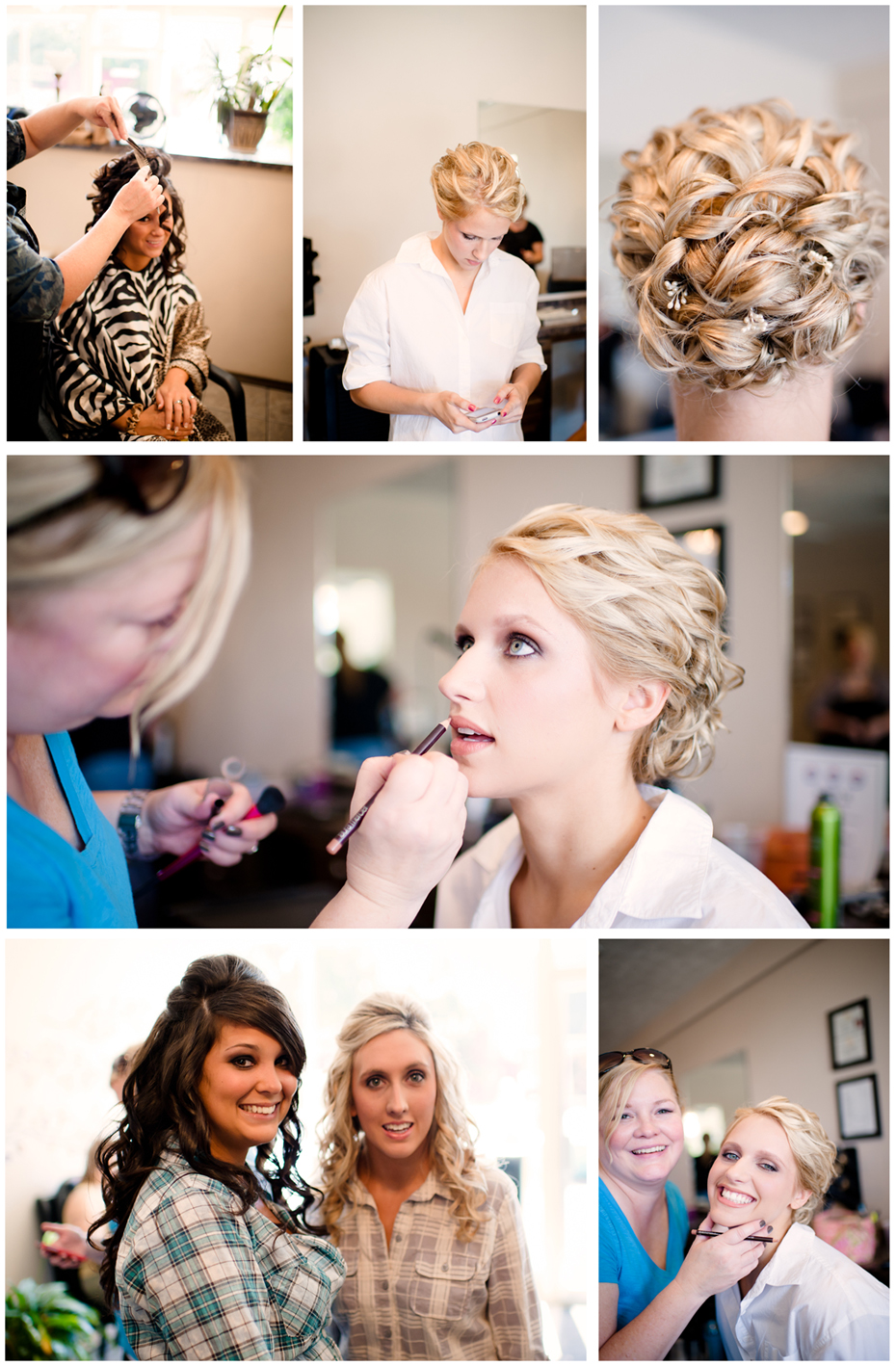 Bride_bridesmaids_getting_ready_for_wedding_at_salon