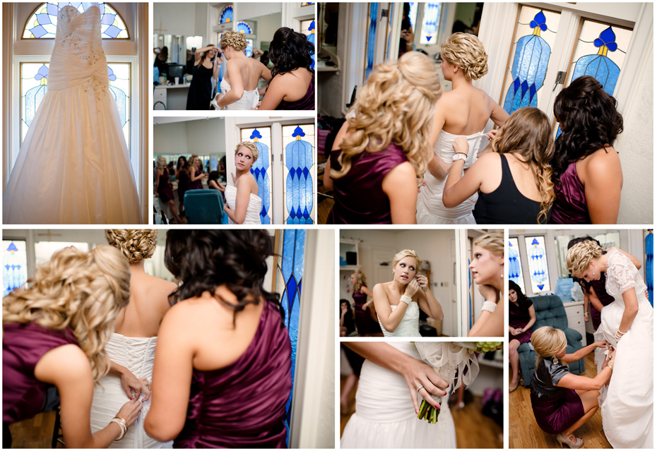 Bride_bridesmaids_getting_ready_putting_on_wedding_dress