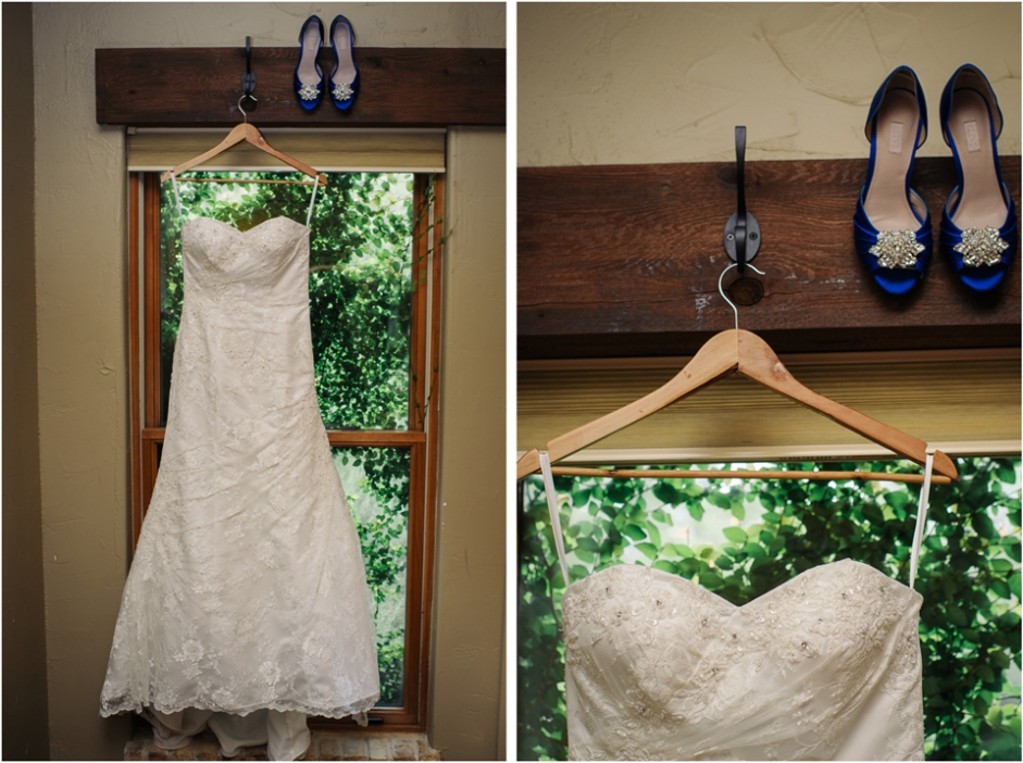 weddings austin 2 bridal gown bride blue shoes Austin Wedding Photographers | Outdoor Ceremony at Hamilton 12