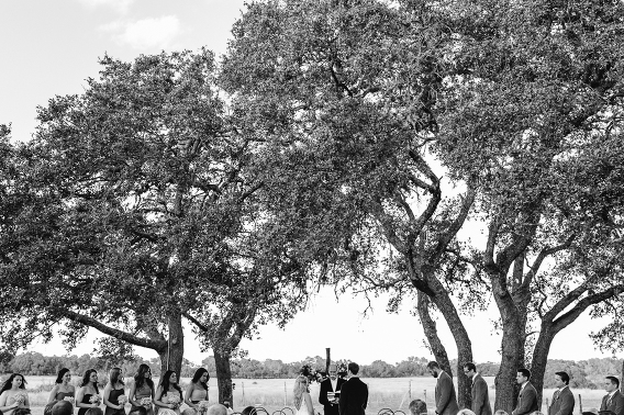 driftwood texas outdoor country wedding ceremony
