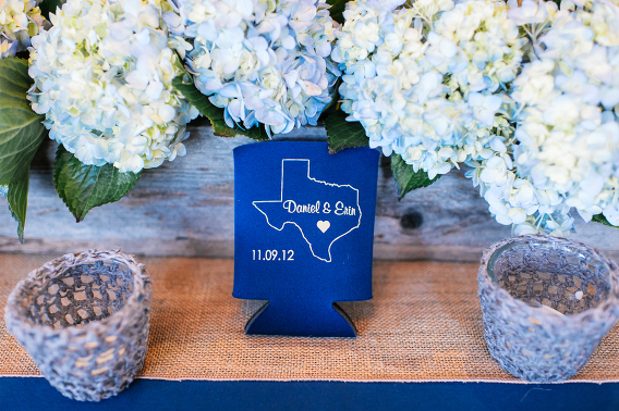 beer coozie with couples names wedding datewoo