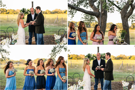 multicolored mismatched bridesmaids dresses