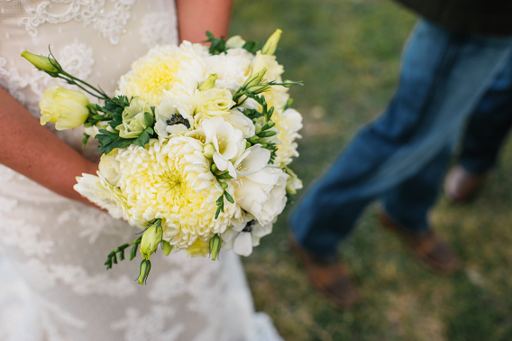 bridal bouquet cowboy boots