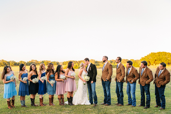 large bridal party group portrait
