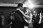 black and white photo of couples first dance