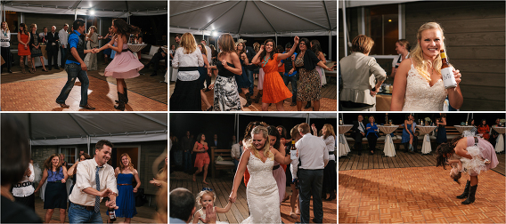 fun dancing reception